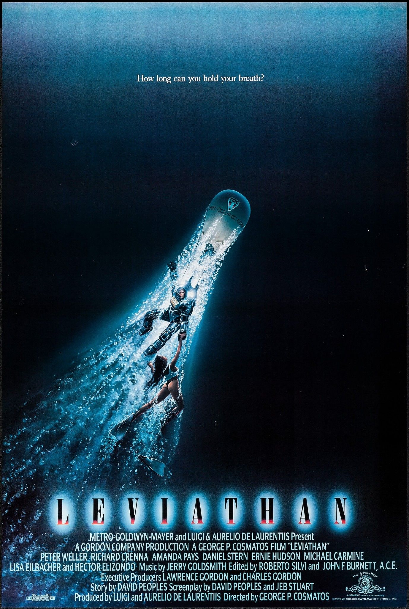 LEVIATHAN (1989) | Movie posters, Science fiction movie ...