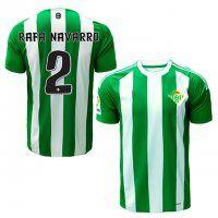 Real Betis Home 16-17 Season  2 Navarro White Green Soccer Jersey ... c17f3be3fc617