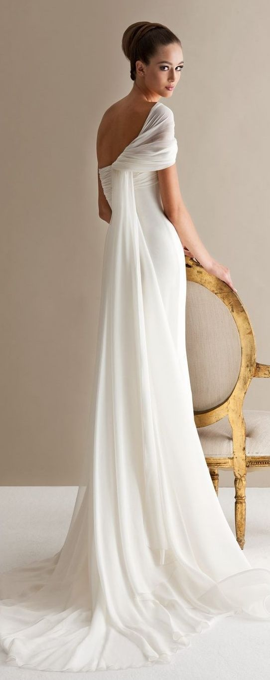 10 More Gorgeous, Grecian Inspired Wedding Gowns | Wedding Attire | IDoTakeTwo.com
