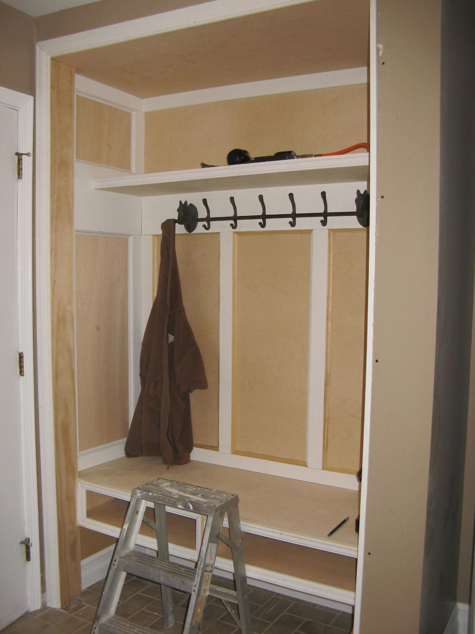 Converting Our Laundry Room Closet Into A Mudroom Area
