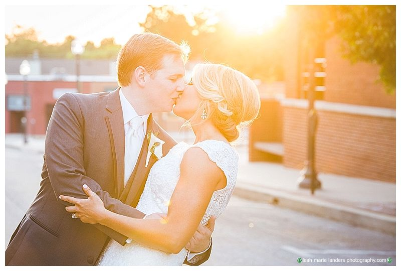 Golden Light - Sunset Wedding Photography - Fayetteville Town Center Wedding - Fayetteville Arkansas Wedding Photographer - NWA Photographer - Leah Marie Landers Photography
