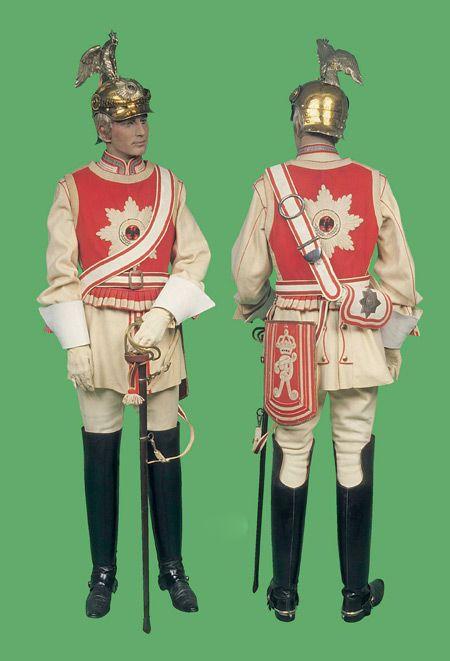 garde du corps gala uniform 1871 1918 german kurassier regiments pinterest german army. Black Bedroom Furniture Sets. Home Design Ideas
