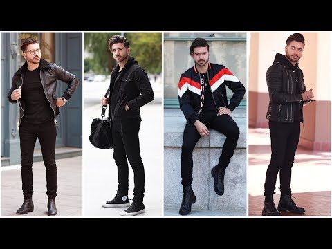 f0622467e58d 4 EASY OUTFITS FOR MEN (All Black) | Men's Outfit Inspiration Lookbook 2018  | ALEX COSTA - YouTube