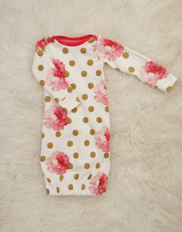 Newborn gown baby girl gown newborn girl gown baby sleep sack by