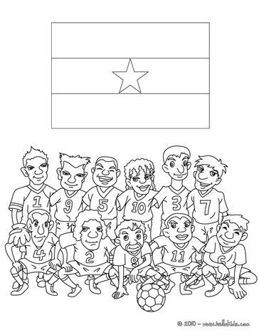 Soccer Teams Coloring Pages Team Of Ghana Sports Coloring Pages Flag Coloring Pages Coloring Pages