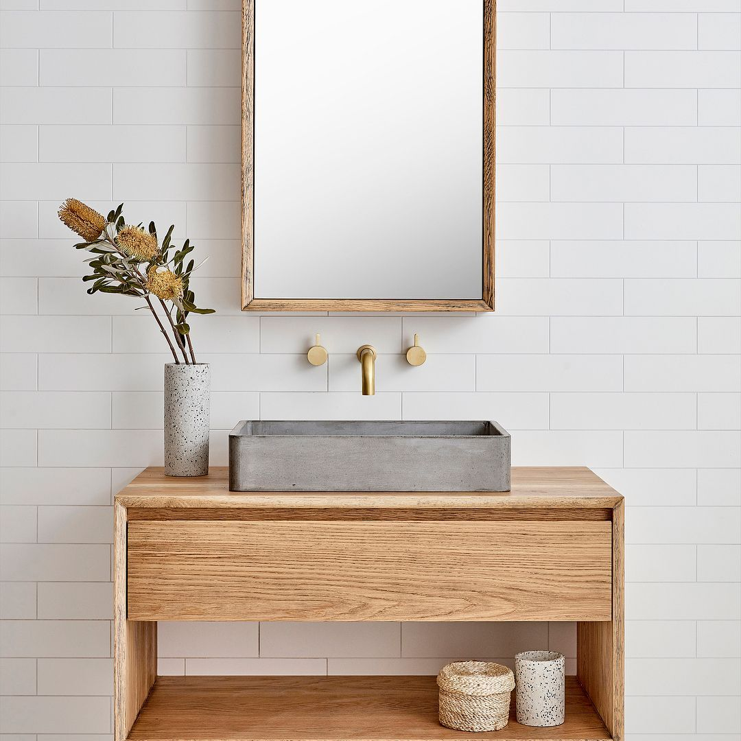 """Loughlin Furniture on Instagram: """"The Baxter- simple & elegant. The Baxter comes in single and double basin variations. The timber top creates a feature for your choice of…"""""""
