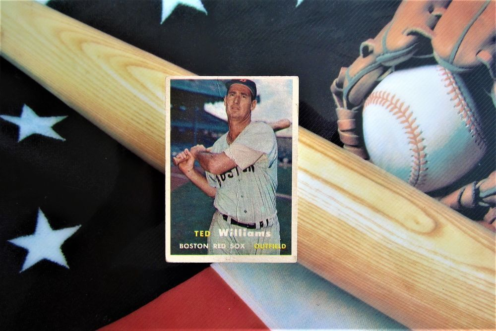 1957 ted williams topps baseball card 1 boston red sox