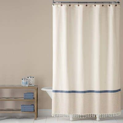 Wayfair Fringe Border 100 Cotton Shower Curtain ClassicKnightcotton