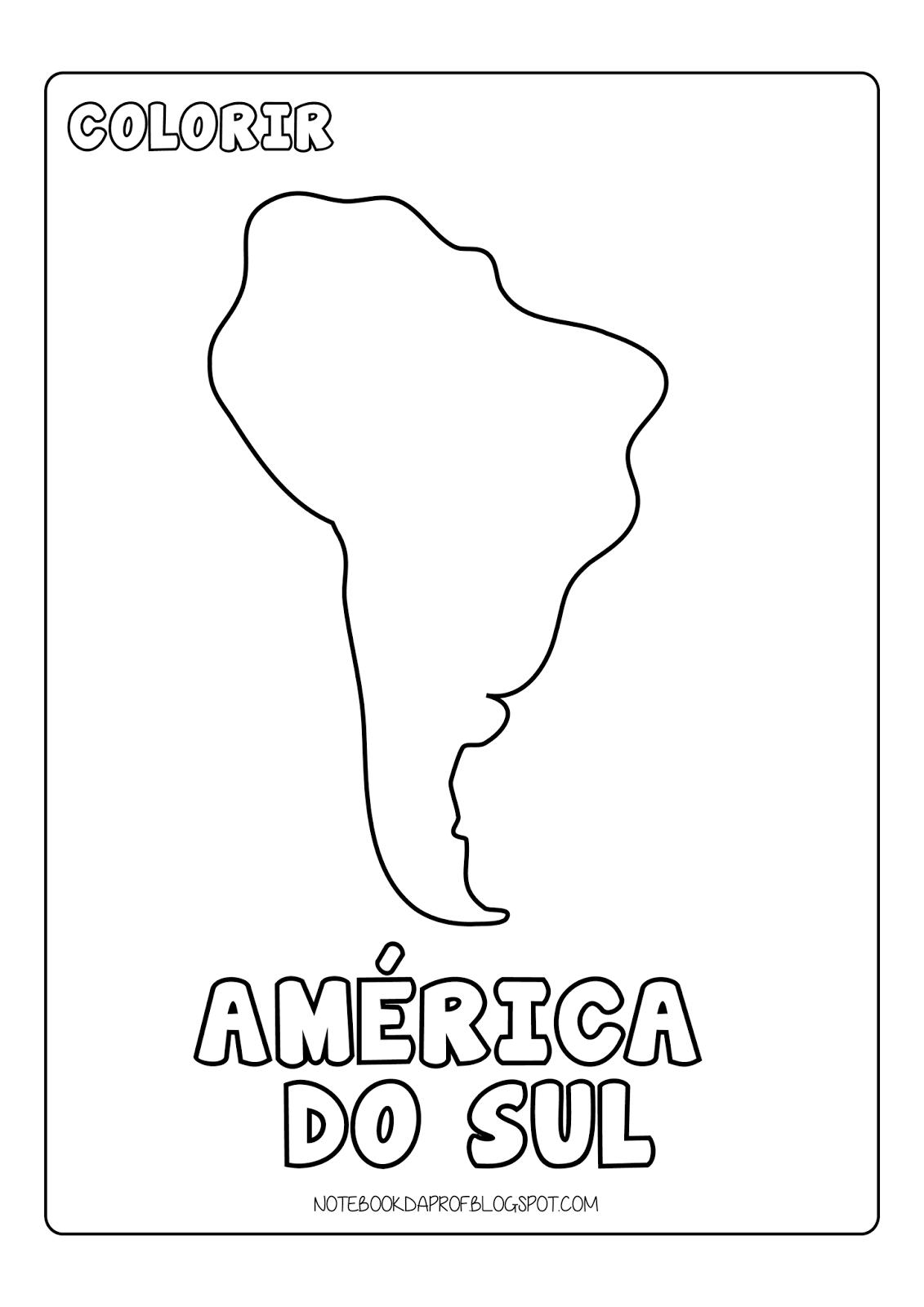 Colorir Continentes | Linguagem | Pinterest