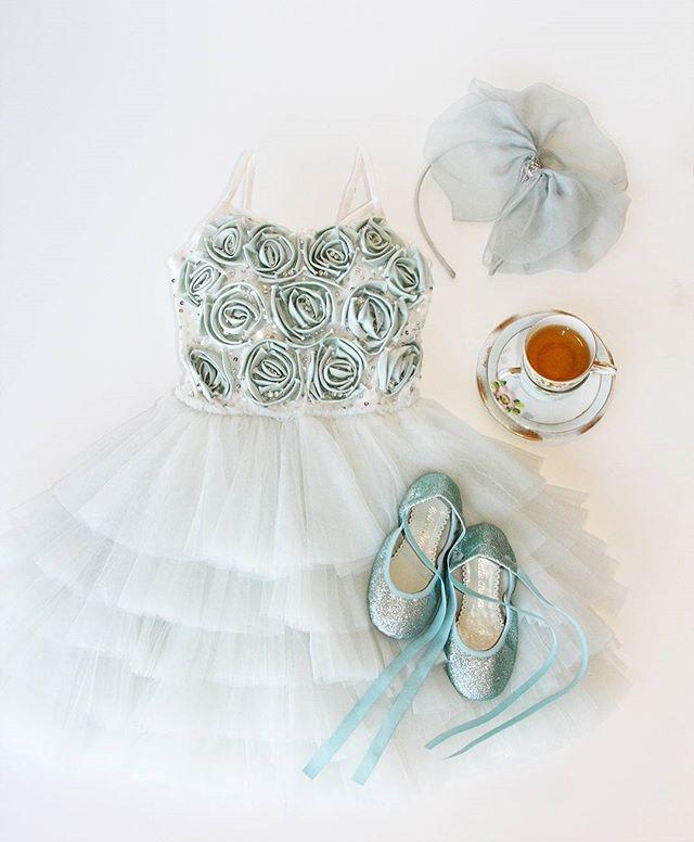 Tutu Du Monde girls love dress ups 👗🌷 Perfect little ensemble for a tea party #TDMdetails #TDMtutu #teaparty #kidsfashion #kidswear