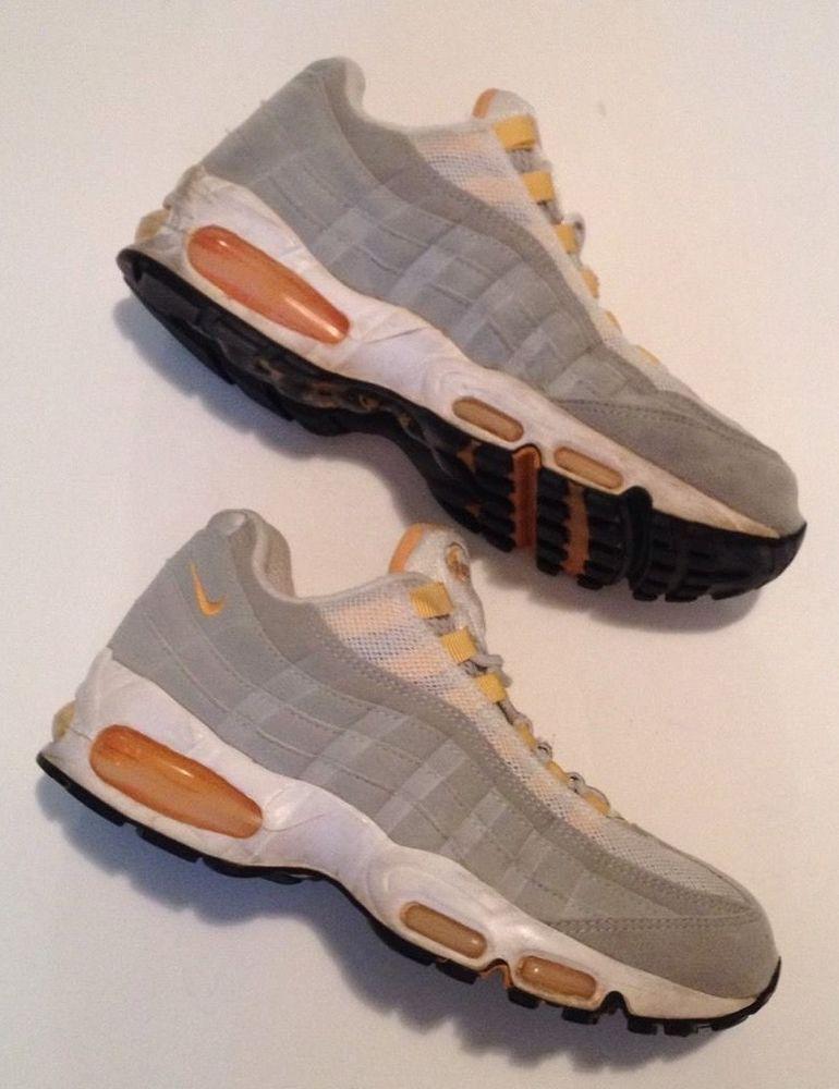 official photos d7242 d0558 Nike Vintage 1998 AIR MAX 95 OG Men's Size 8.5 Yellow White ...