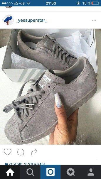 shoes grey adidas adidas superstars