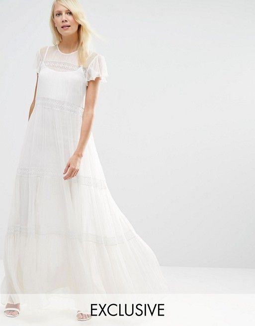 Needle & Thread | Needle & Thread Chiffon Lace Maxi Dress | Dresses ...