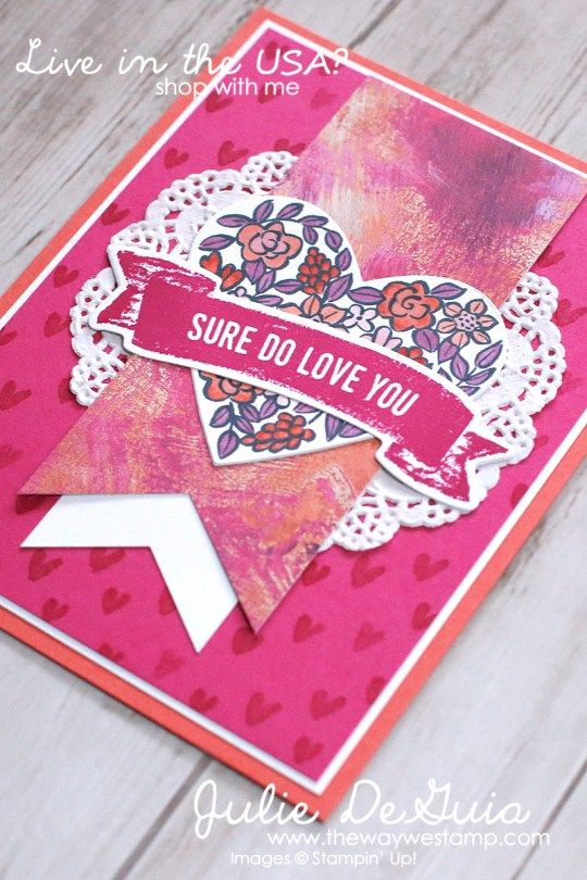 stampin up valentine card ideas sure do love you and heart happiness by stampin up valentines