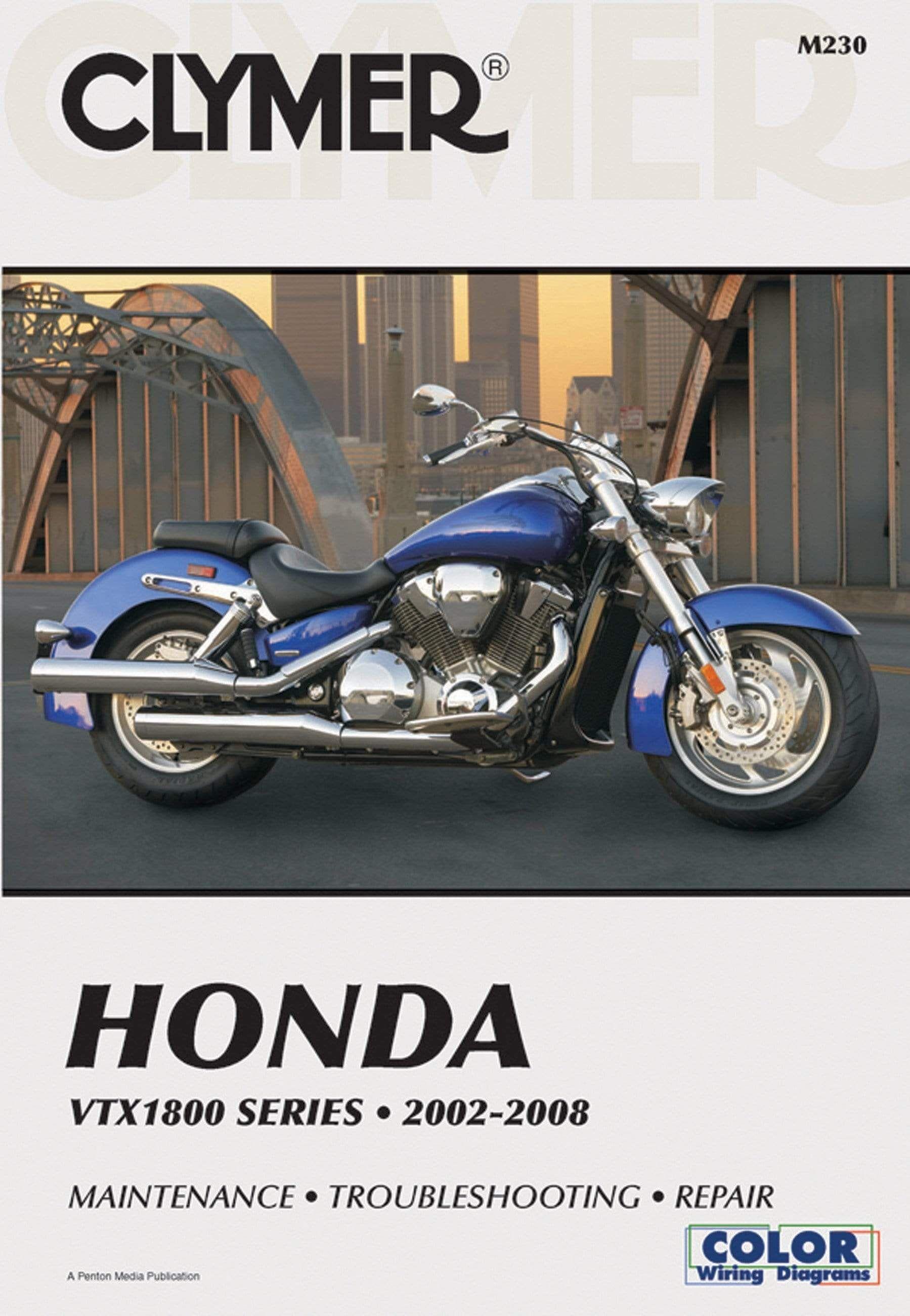 Clymer Honda Vtx1800 Series 2002 2008 Maintenance Troubleshooting Repair In 2020 Honda Clymer Repair Manuals