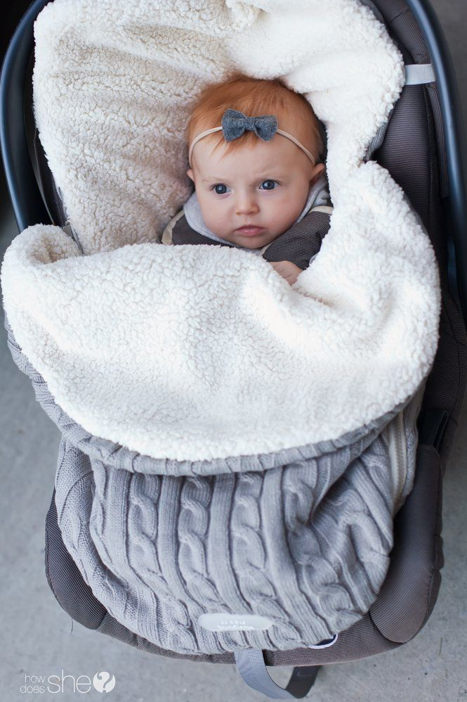 Be Ready For Babys First Winter No Need Bulky Blankets Or Coats The JJ Cole Cable Knit BundleMe Is A Cover That Goes In Stroller Car Seat