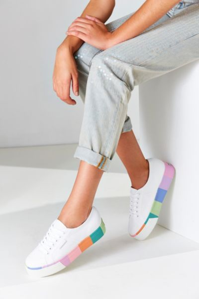 596e5ff36e6 Superga Multicolor Platform Sneaker