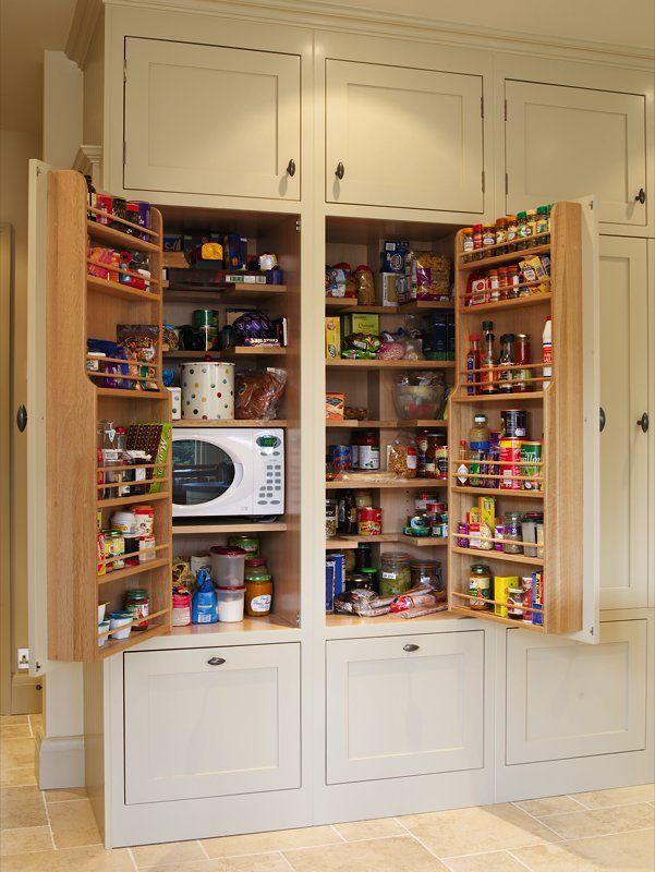 Microwave In Pantry Cabinet Es Vinegars Etc Rack On Door
