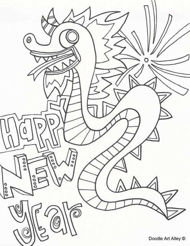 Chinese New Year coloring pages from Doodle Art Alley. Print and ...