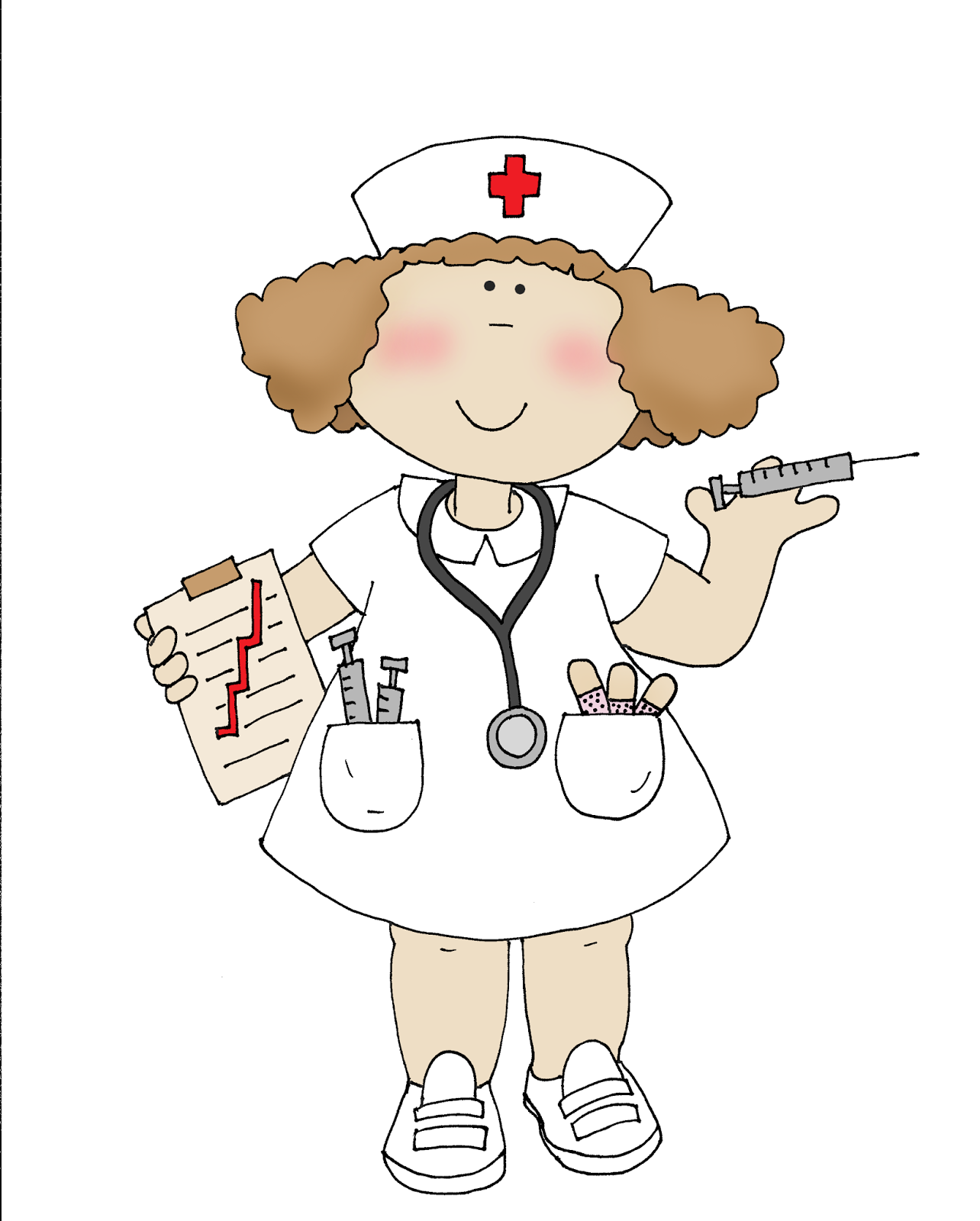 Медсестра картинки для детей нарисованные цветные