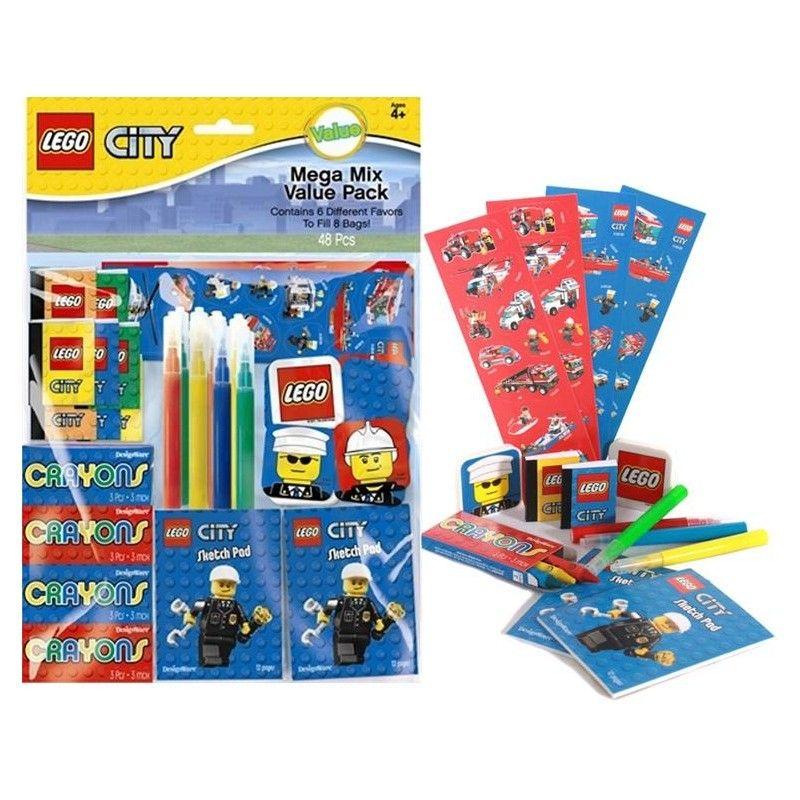 LEGO CITY PARTY SUPPLIES DECORATIONS FAVOR FAVOURS KIT