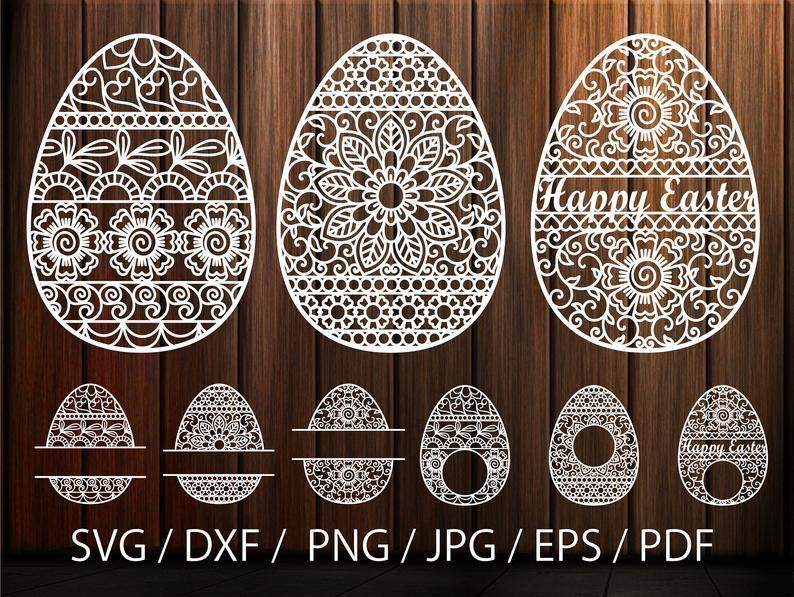 Easter Egg Svg Ornate Easter Eggs Mandala Egg Circle Monogram