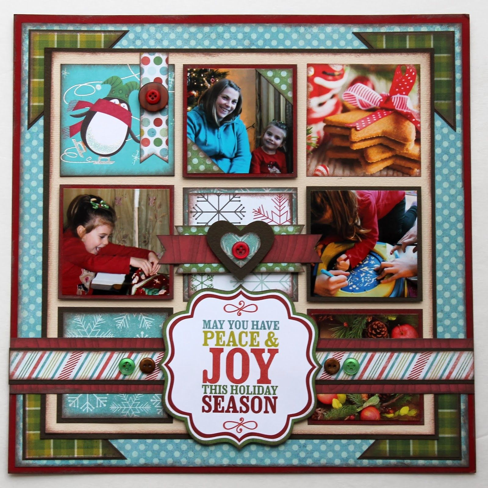 Scrapbook ideas christmas card - Upcycle Christmas Cards On A Scrapbook Layout My Minds Eye