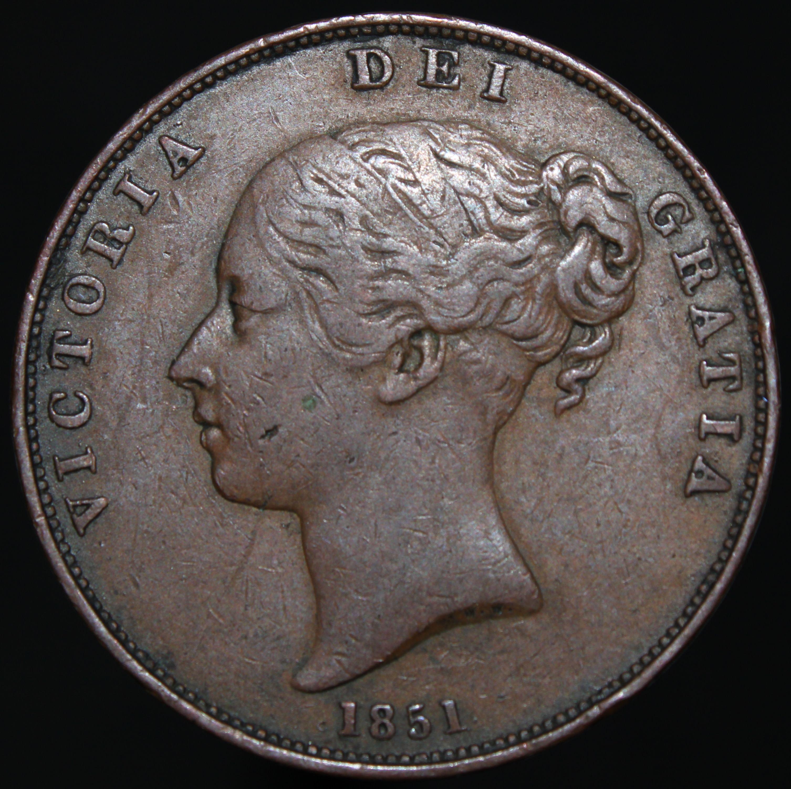 1851 Victoria Penny Far Colon After Def Copper Coins Km Coins Copper Coins Coins English Coins