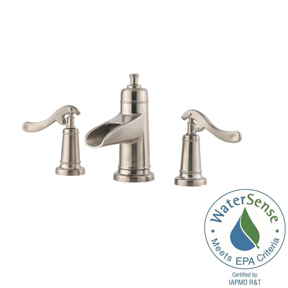 Pfister Ashfield 8 Inwidespread 2Handle Waterfall Bathroom Interesting Pfister Bathroom Faucet Inspiration Design
