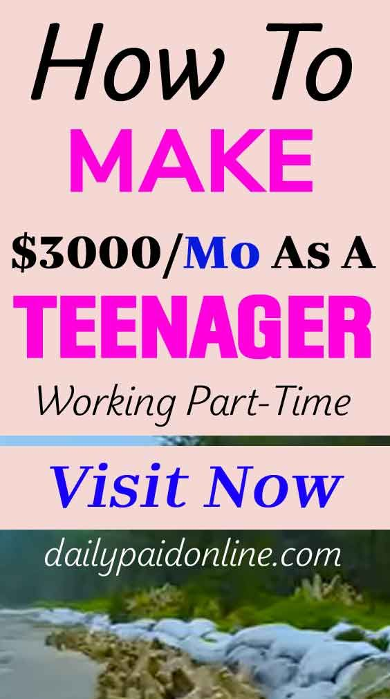 How To Make $3000/mo Online As A Teenager Working