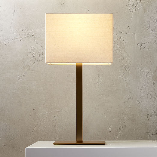 Modern Table Lamps | CB2 in 2020 | Bronze table lamp ...