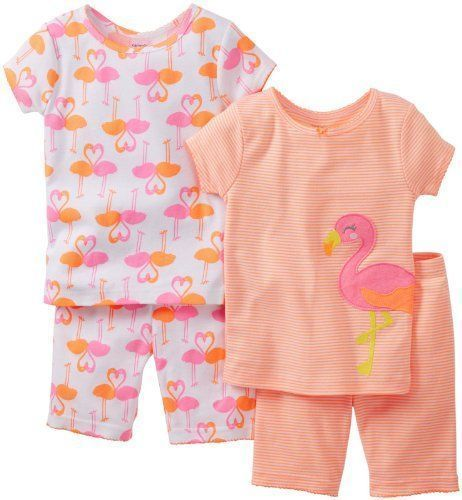 829b3f383 NWT Carter s Baby Girl size 12 Months 4 Piece Summer Pajama Set ...