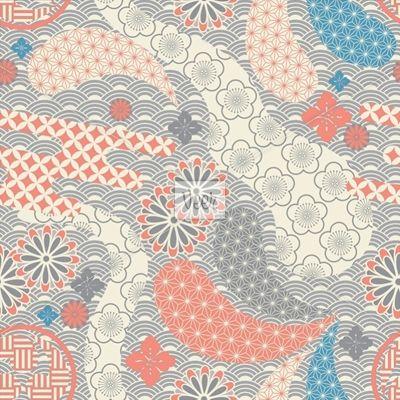 Seamless japanese style pattern Stock Illustration
