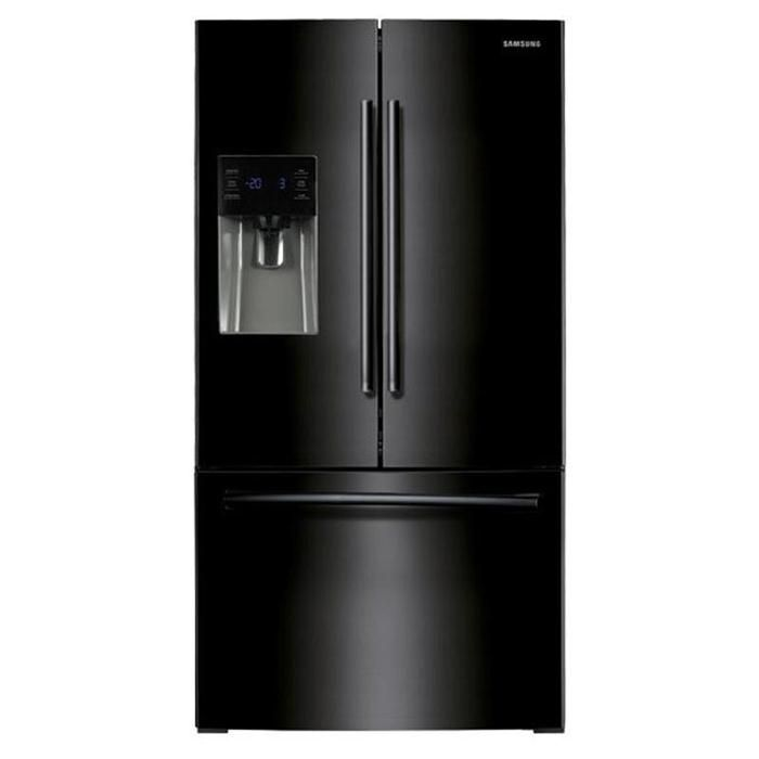 26 Cu Ft French Door With External Water Ice Dispenser French Door Refrigerator American Style Fridge Freezer Black French Door Refrigerator