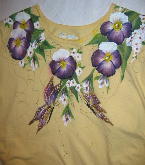 Free paint pattern to paint fabric garments tee shirts and for Using fabric paint on glass