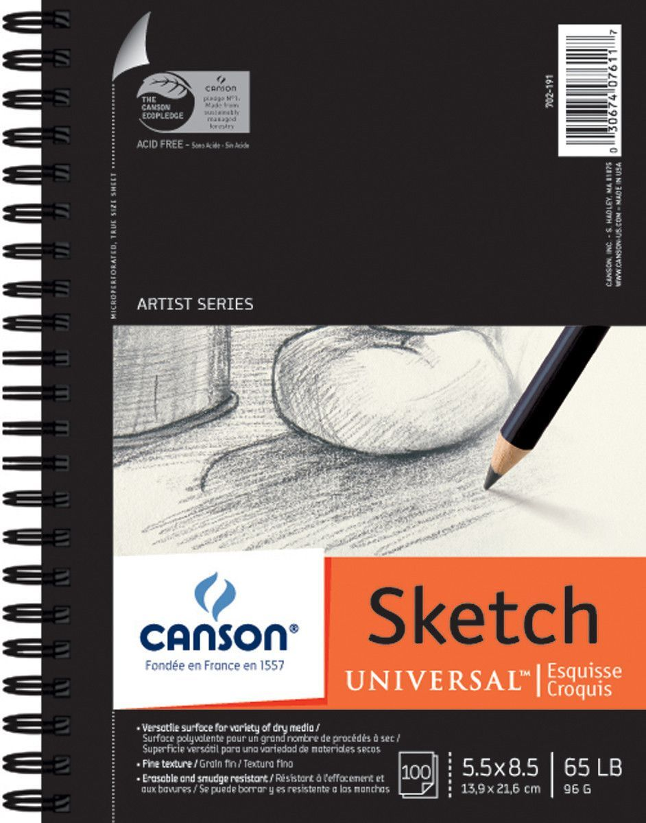Canson Universal Sketch Paper Pad 5inx8in Sketch Paper Sketch
