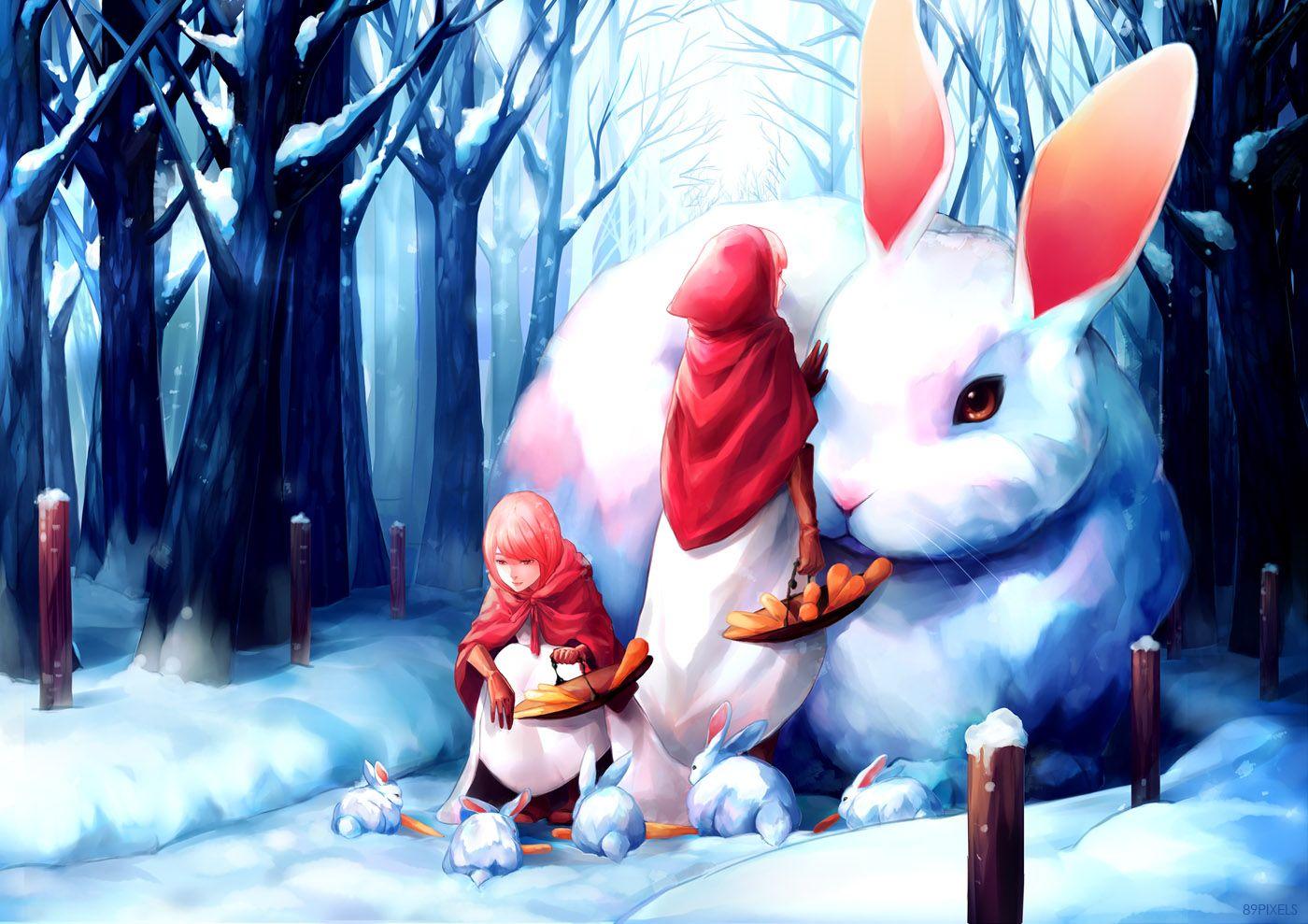 Rabbits of Winteria by 89pixels on DeviantArt