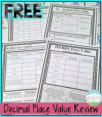 decimal place value resources teaching ideas fractions decimals place value with. Black Bedroom Furniture Sets. Home Design Ideas