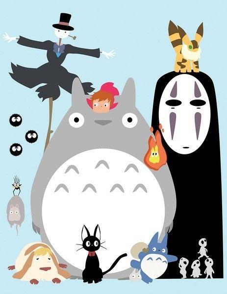 Totoro and other studio ghibli characters geekery i like totoro and other studio ghibli characters bookmarktalkfo Choice Image
