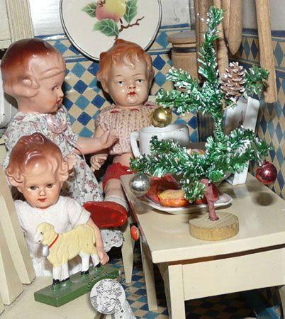 Kerstboom van 1930-1940   Old Dolls Houses ❤   Pinterest   1930er ...
