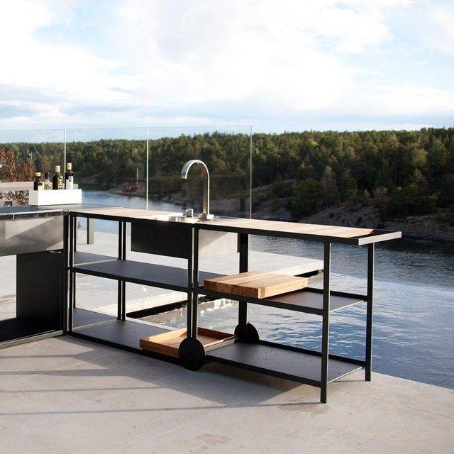 Roshults Garden Trolley Modular Outdoor Kitchens Outdoor Kitchen Outdoor Kitchen Design