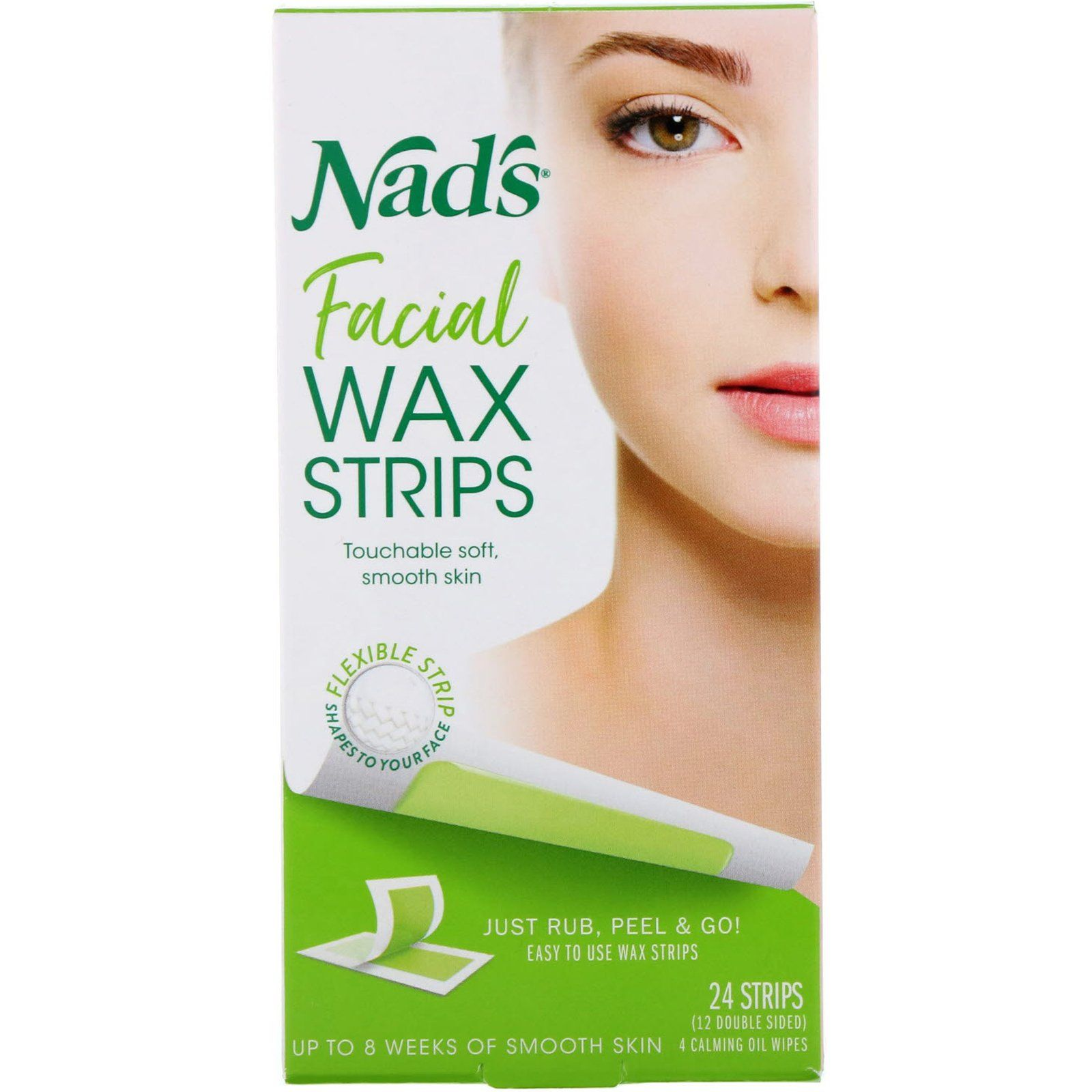 Nad's, Facial Wax Strips, 24 Strips in 2020 Facial