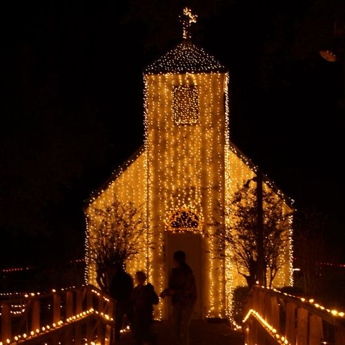Christmas At Acadian Village Church In LaFayette, LA