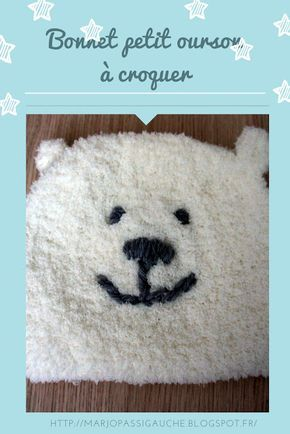 ae1101210868 marjo pas si gauche !  Bonnet ourson à tricoter pour bébé   tricot ...