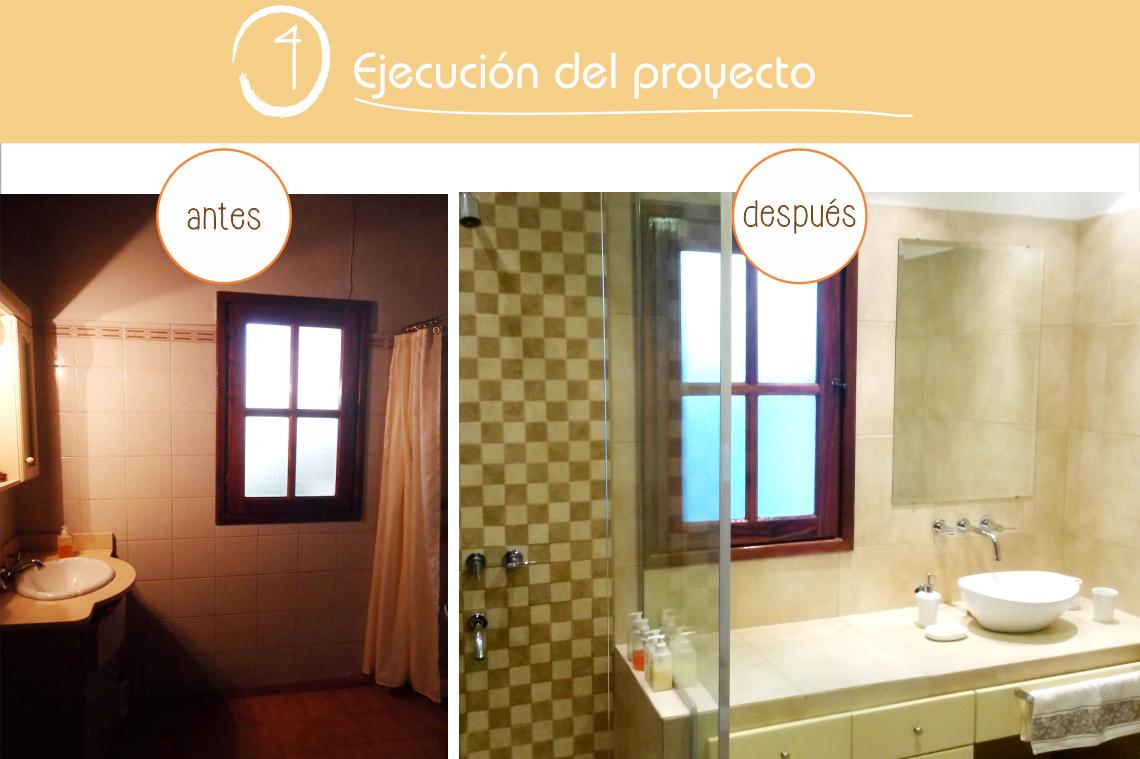 """#PasoAPaso #4 - EjecucionDelProyecto: """"Sin la posibilidad de modificar el aventanamiento, se modernizó este baño optimizando espacios y ganando confort"""" #Baño"""