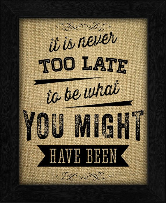 Burlap Quote Art PrintInspirational by TimelessMemoryPrints, $19.99