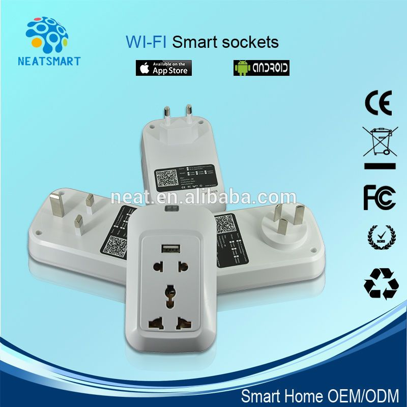 Wifi intelligente steckdose, smart home wifi-buchse, drahtlose ...