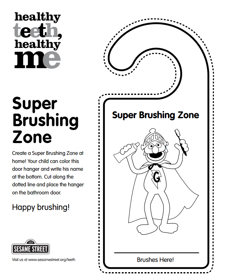 Create a Super Brushing Zone at home to encourage your