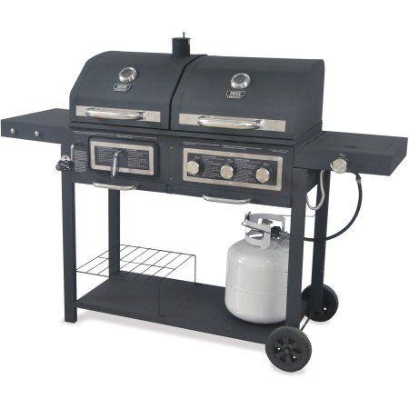 Backyard Grill Dual Gas Charcoal Grill Walmart Com Charcoal