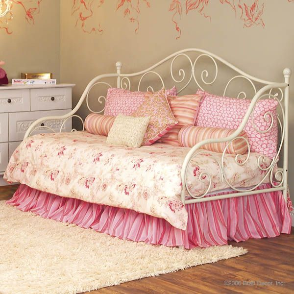 White Wrought Iron Daybed For Laura Girls Room Ideas